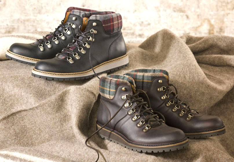 Leather & Tweed retro boots